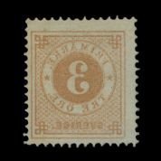 TUT1776 - Sweden - 'Numeral'' type P.13 3o yellow brown. CLICK FOR FULL DESCRIPTION